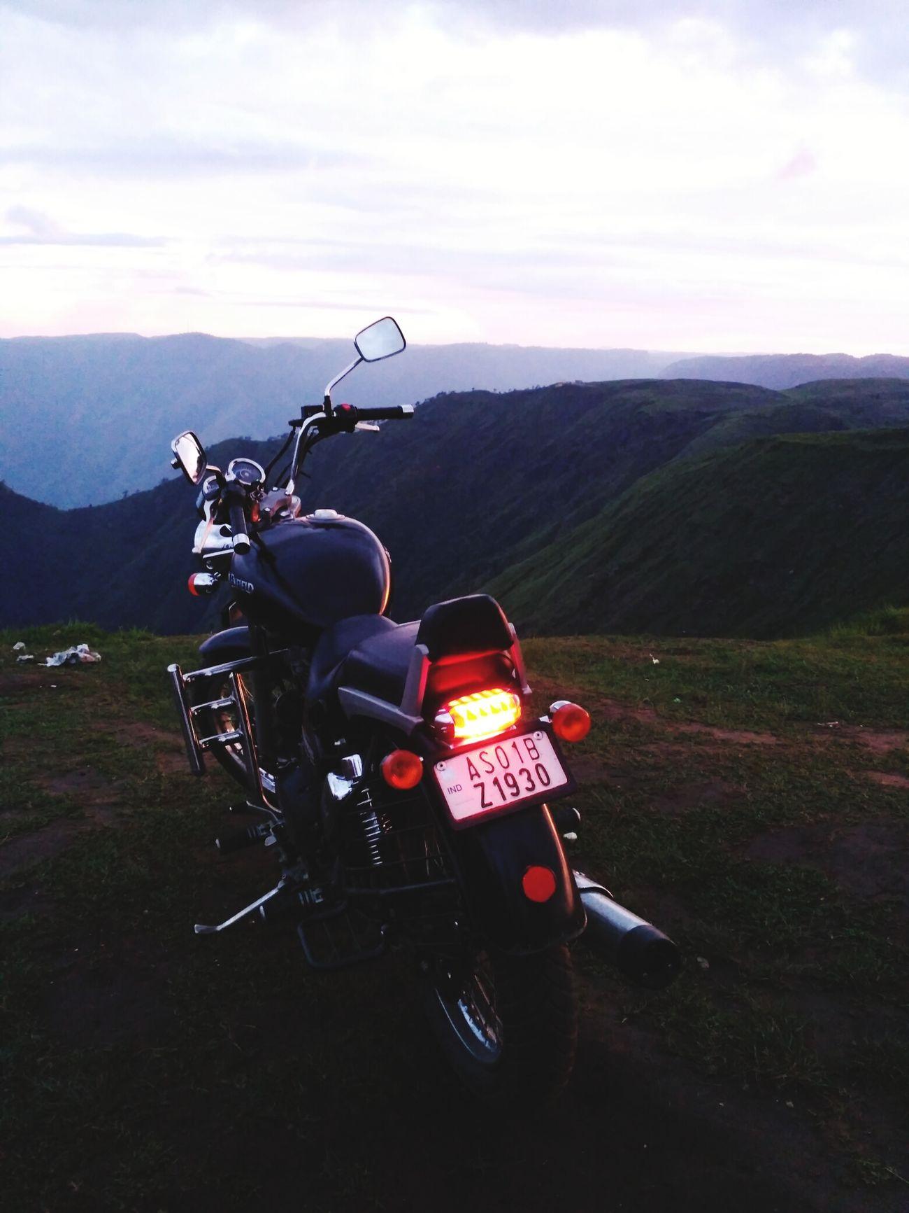 Motorcycle Riding Hilltop Laitlum Shillong