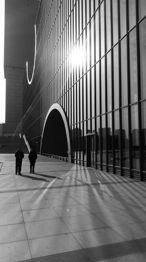 Shanghai Poly Grand Theater , by Tadao Ando.Shanghai Poly Grand Theater, By Tadao And. Shanghai Sunset Built Structure Architecture Blackandwhite TADAOANDO Modern Black & White Shadow