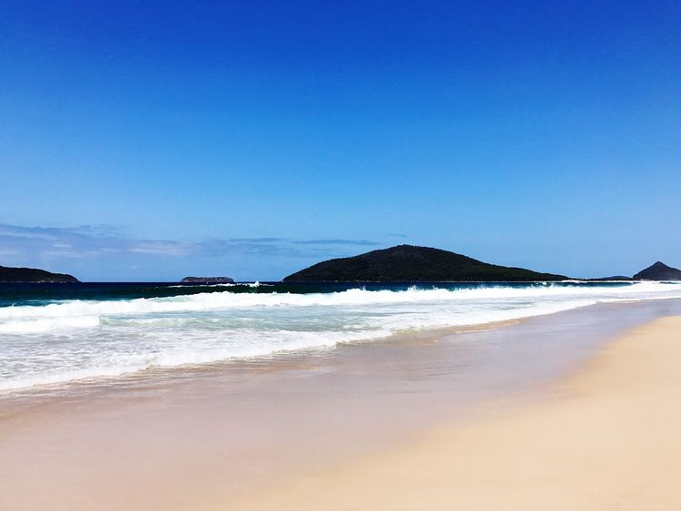 Australia & Travel Sea Beach Beauty In Nature Tranquil Scene Sand Blue Wave No People Sky Clear Sky