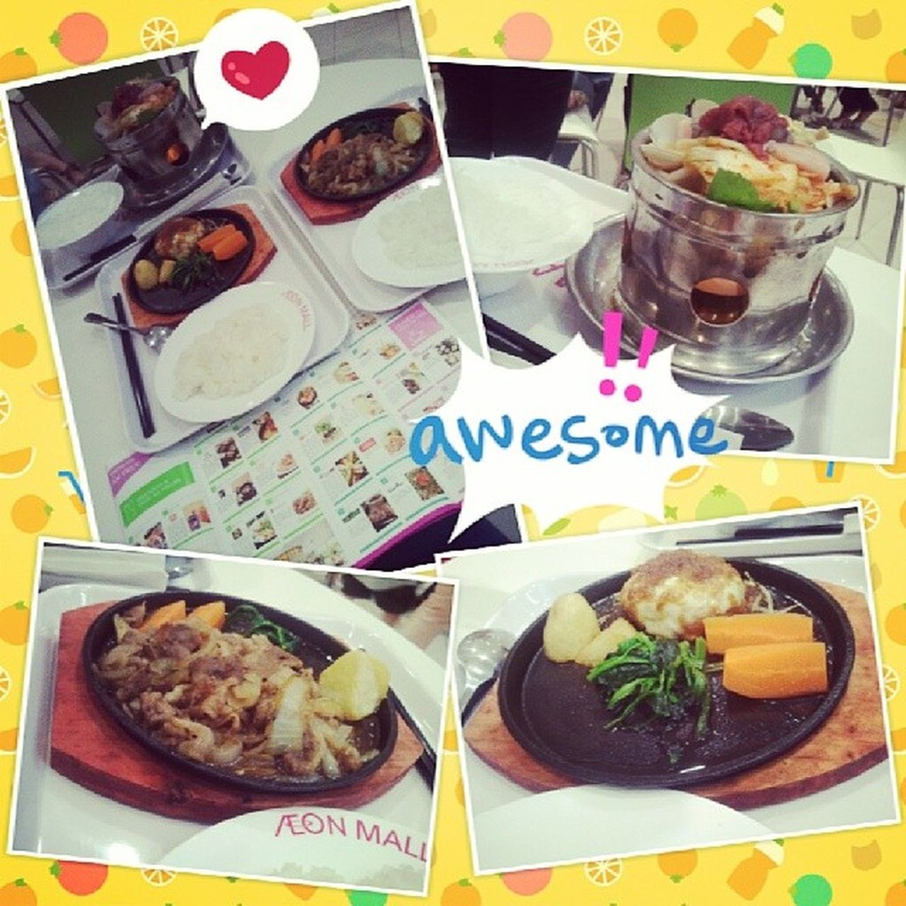 First time being here *-* enjoy Japanese foods so damn muchhh!!! But so damn many people @@ freaking hot here!! With @h30zdo :x