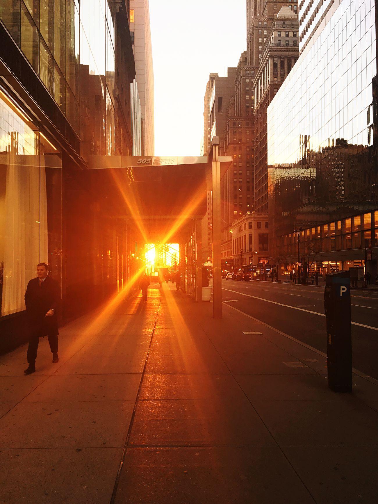 Sunrise in New York City Sunrise New York Color