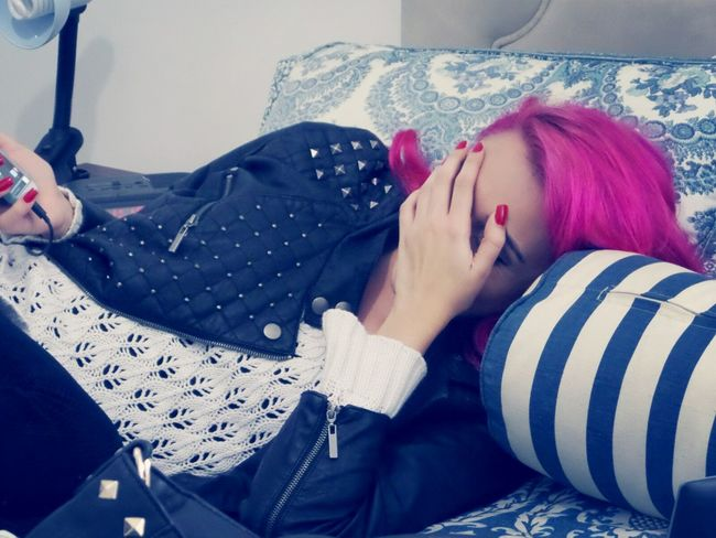 Hard Party Pink Hair Party Lesbian
