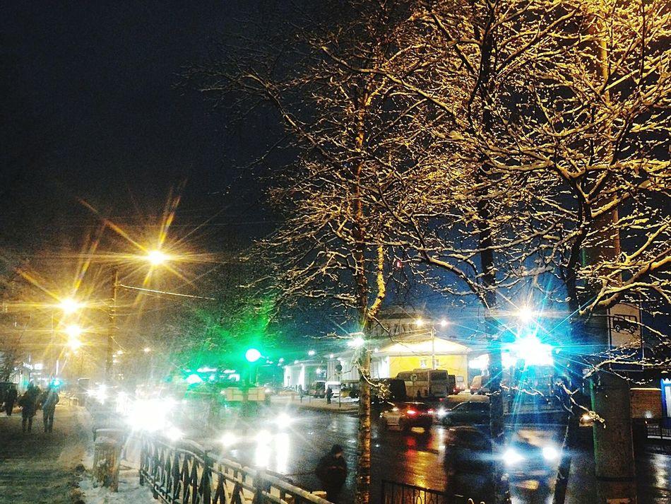 Embrace Urban Life Sky City Night Illuminated Outdoors Tree No People Snow Snow ❄ Snow Day SNOW NIGHT Snow Night Light Winter