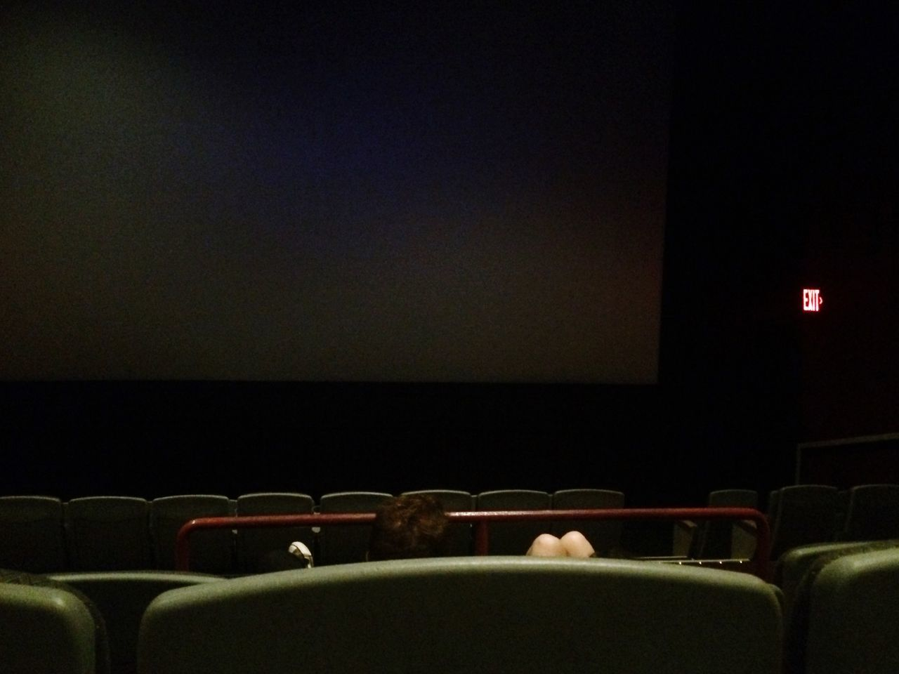 Cinema Empty Waiting Black Screen