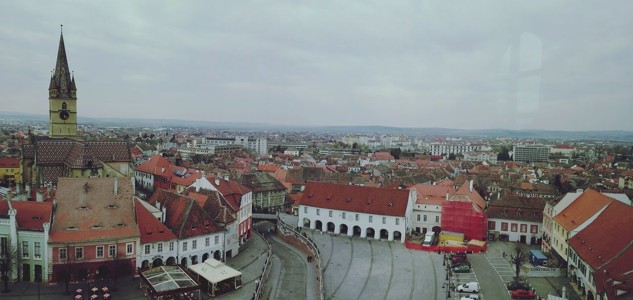 City Architecture History High Angle View Travel Destinations Sibiu Romania Old Town Transylvania Cityscape Sky Built Structure Politics And Government Building Exterior No People Urban Skyline Outdoors Day