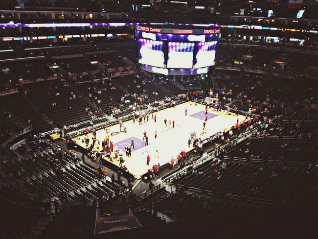 Los Lakers Nosebleed Section  Basketball ?
