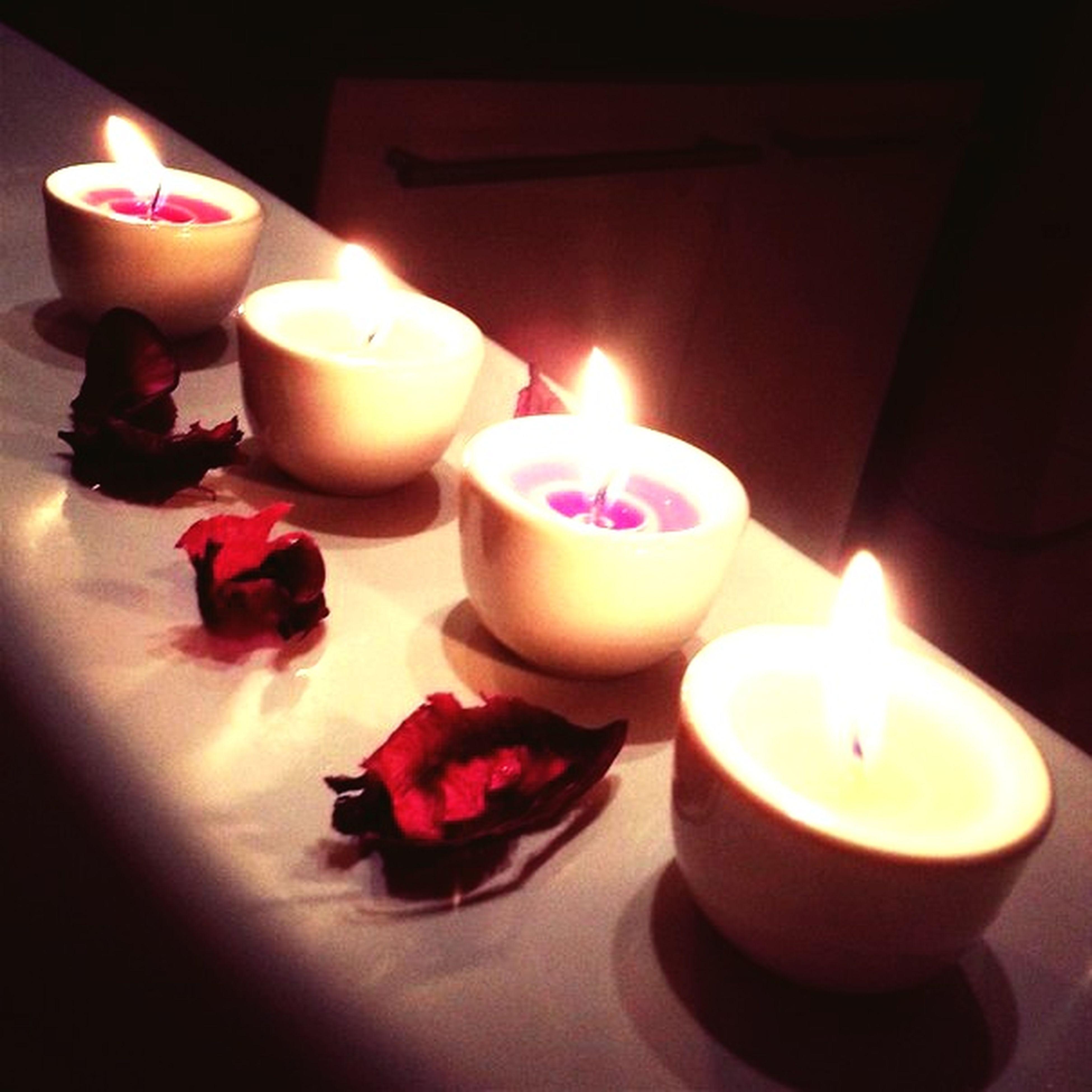 flame, burning, candle, illuminated, fire - natural phenomenon, heat - temperature, glowing, indoors, lit, candlelight, night, fire, celebration, close-up, decoration, tea light, lighting equipment, light - natural phenomenon, dark, no people