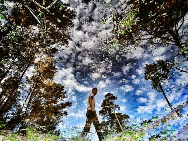 After rainy... The Great Outdoors - 2016 EyeEm Awards Forest Photography Landscape Forestwalk Outdoor Photography Forest Puddle Reflections In The Water Reflection Sunday_flip