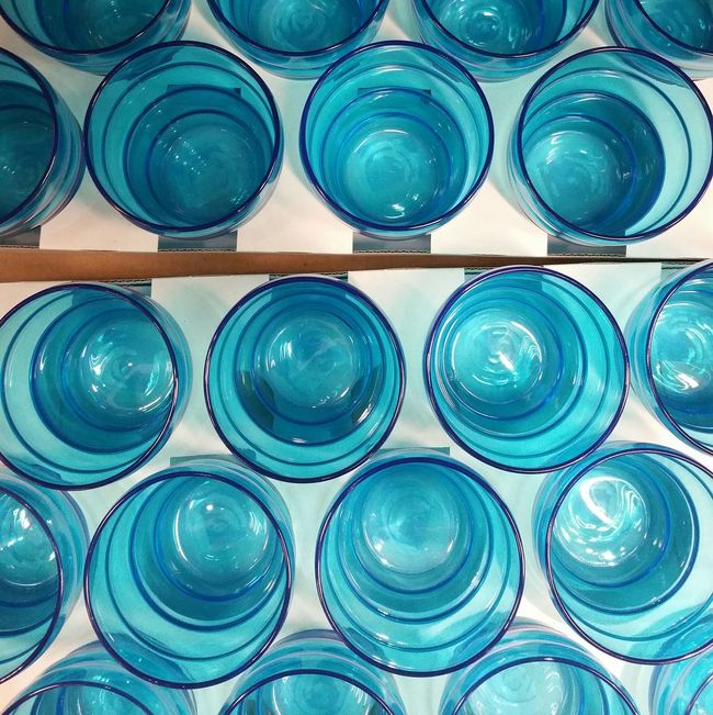 Blue Color Blue Abstract Glass Colors Colorful Everyday Objects No People More Than One Patterns Repetition Colour Of Life Color Palette