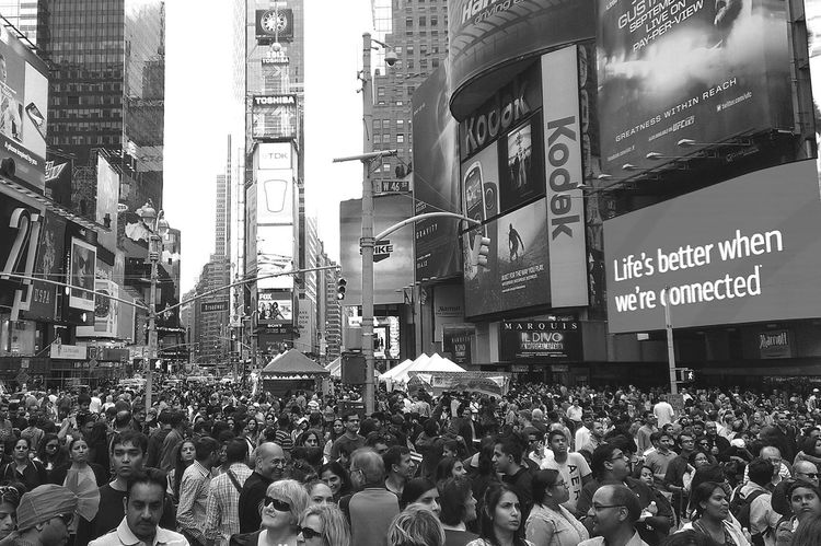 World Famous Times Square NYC Times Square New York City Crowd Cosmopolitan Black & White City That Never Sleeps The Big Apple Ilovenyc People And Places The Street Photographer - 2016 EyeEm Awards