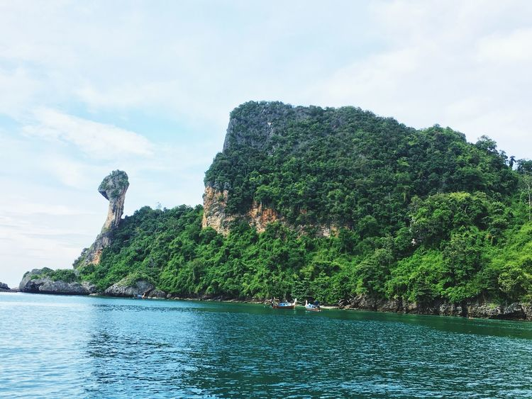 Water Travel Destinations Landscape Tranquility Beauty In Nature Outdoors Scenics Tree No People Nature Day Sky Travel Photography IPhoneography Lovetotravel Krabi Island Krabi, Thailand Boats⛵️