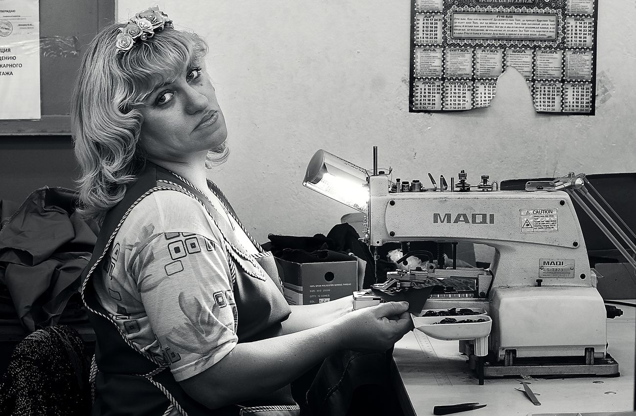 Portrait Russia Women Working Black And White Black & White Blackandwhite Blackandwhite Photography Black And White Photography Black&white Blackandwhitephotography Bw_collection Sewing Machine Industry Manufacturing Equipment Only Women People