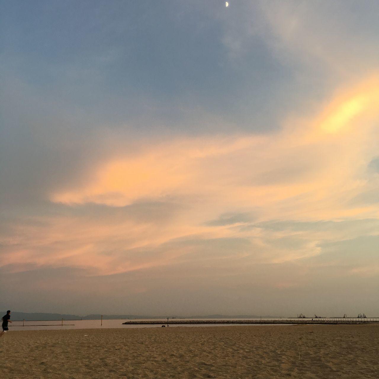 Sea Side Sky Beach Sunset Orange Japan