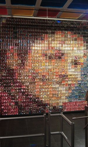 soda cans ....made to michael jackson dope !!!