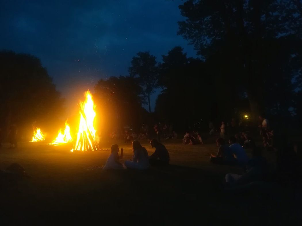 Sommergefühle Night Tree Heat - Temperature People Flame Togetherness Adult Silhouette Outdoors Illuminated Sky Children Fire Camp Summer Summertime Summer Evening Breathing Space EyeEm Selects