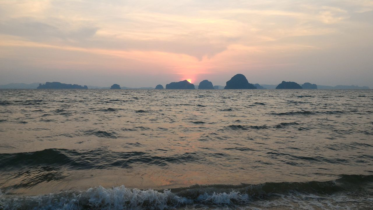 sunset, sea, nature, beauty in nature, sky, scenics, water, no people, tranquility, outdoors, tranquil scene, sand, beach, day