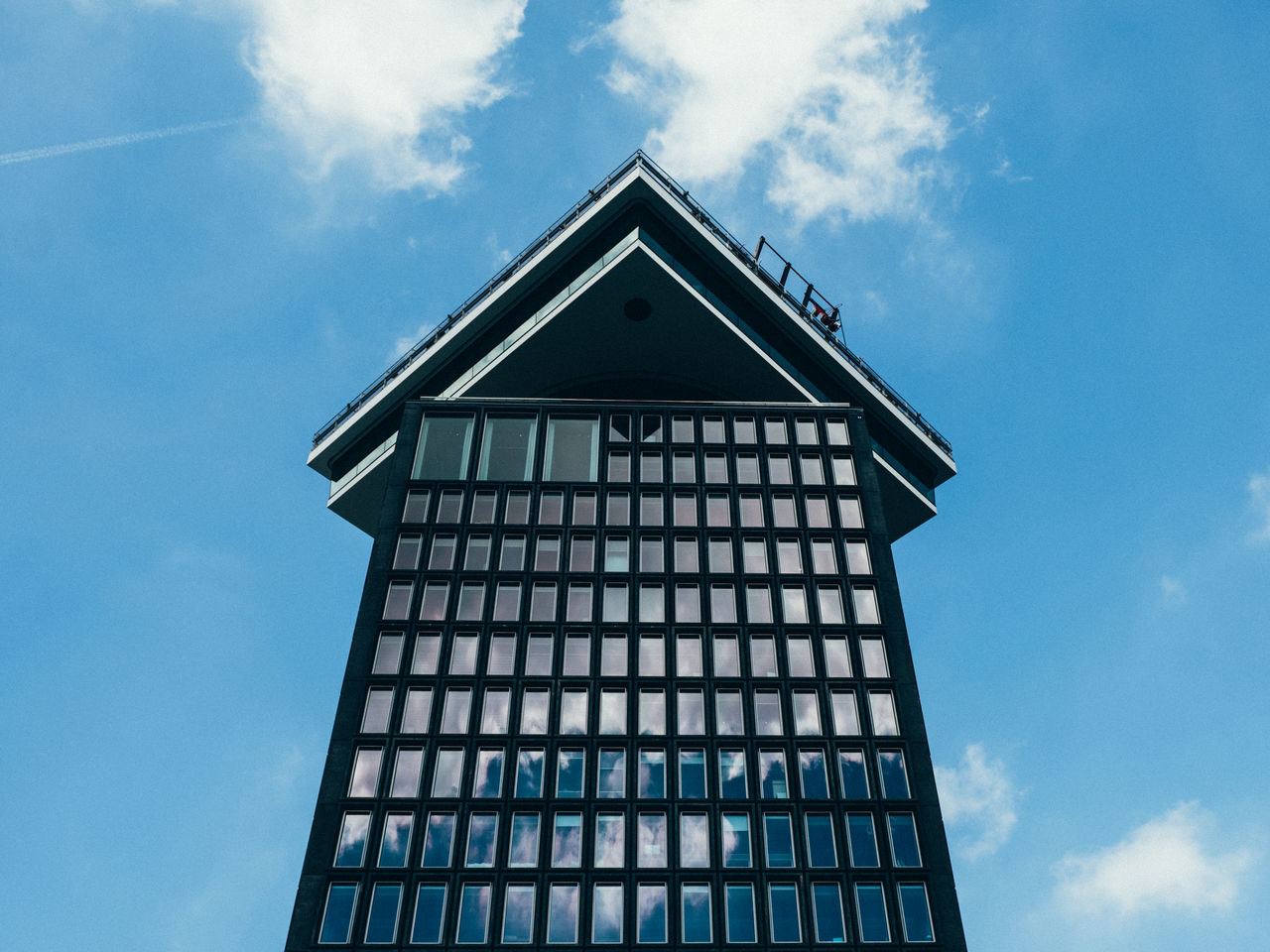 Adam Toren Amsterdam Architecture Blue Building Exterior Built Structure Cloud - Sky Day Low Angle View Modern Netherlands No People Outdoors Sky Skyscraper Tall - High The Architect - 2017 EyeEm Awards Tower