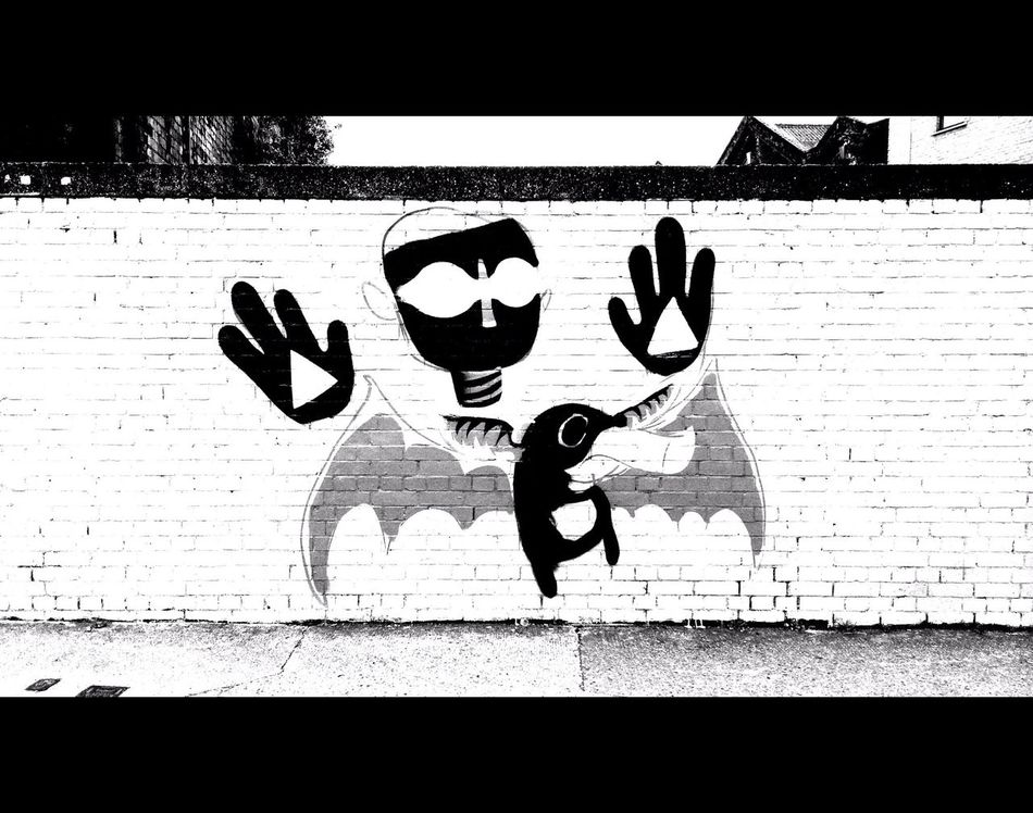 Hold. 1.78:1 Black And White Street Photography Mural