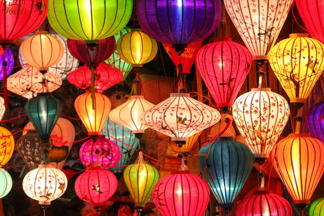 Lanterns Art Celebration Chinese Lantern Colouful Craftsmanship  Culture Cultures Decoration Handcrafted Handmade Hanging Hoi An Lantern Lanterns Lanterns In The Dark Light Lights Multi Colored Night Travel Travel Photography Vietnam