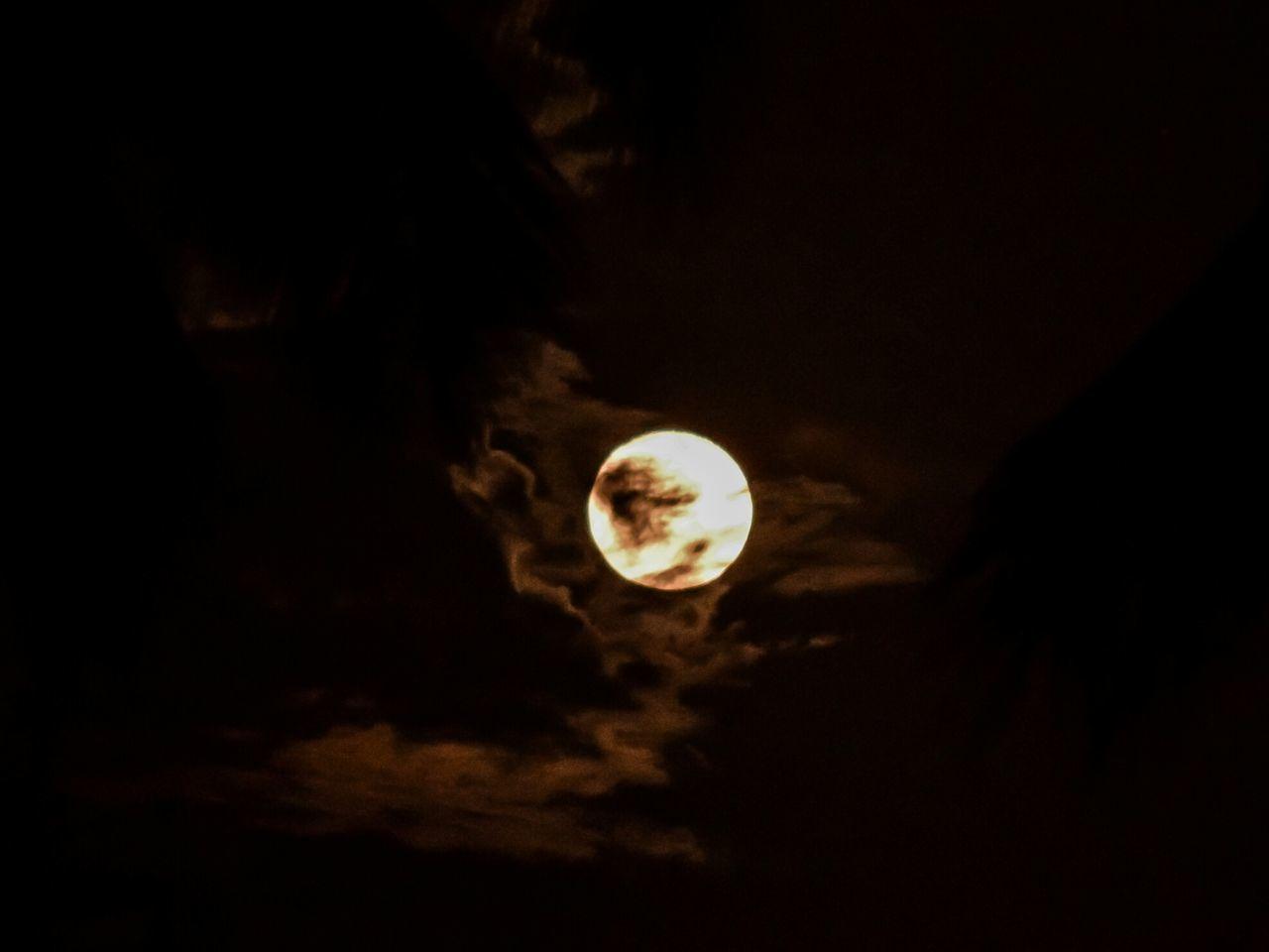 Moon Night Moonfire Astronomy