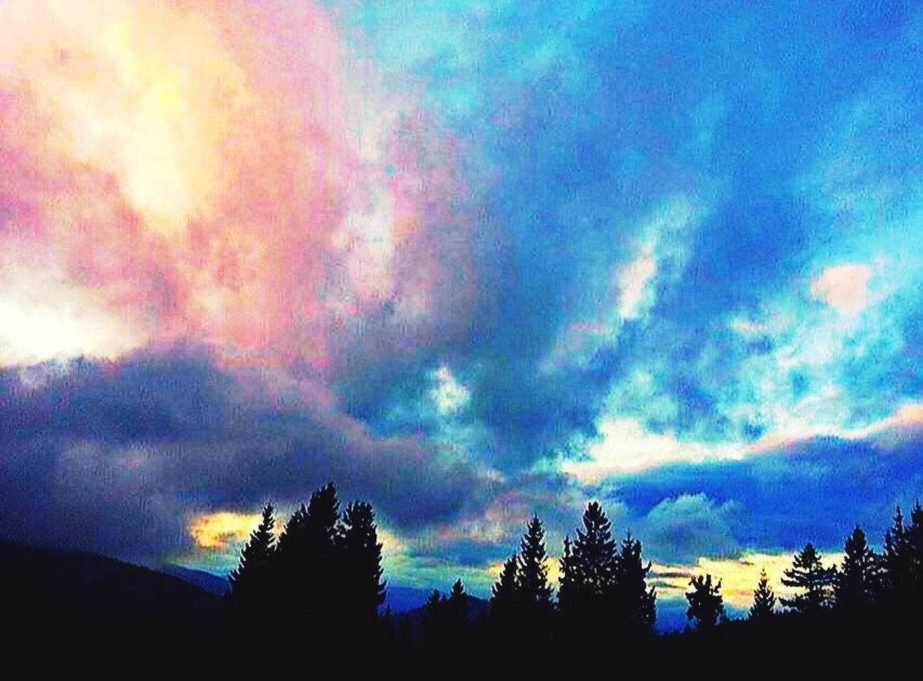 Skylovers Skyporn Sky And Clouds Wood Trees Magic Colours #cloud Obsession Nature Beautiful Freak Of Nature