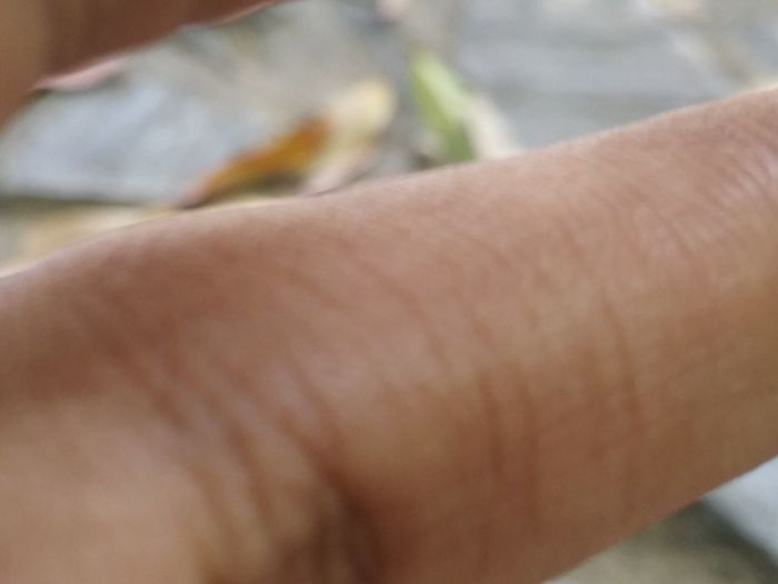 Close-up Person Focus On Foreground Human Finger Personal Perspective Human Skin Extreme Close Up Holding