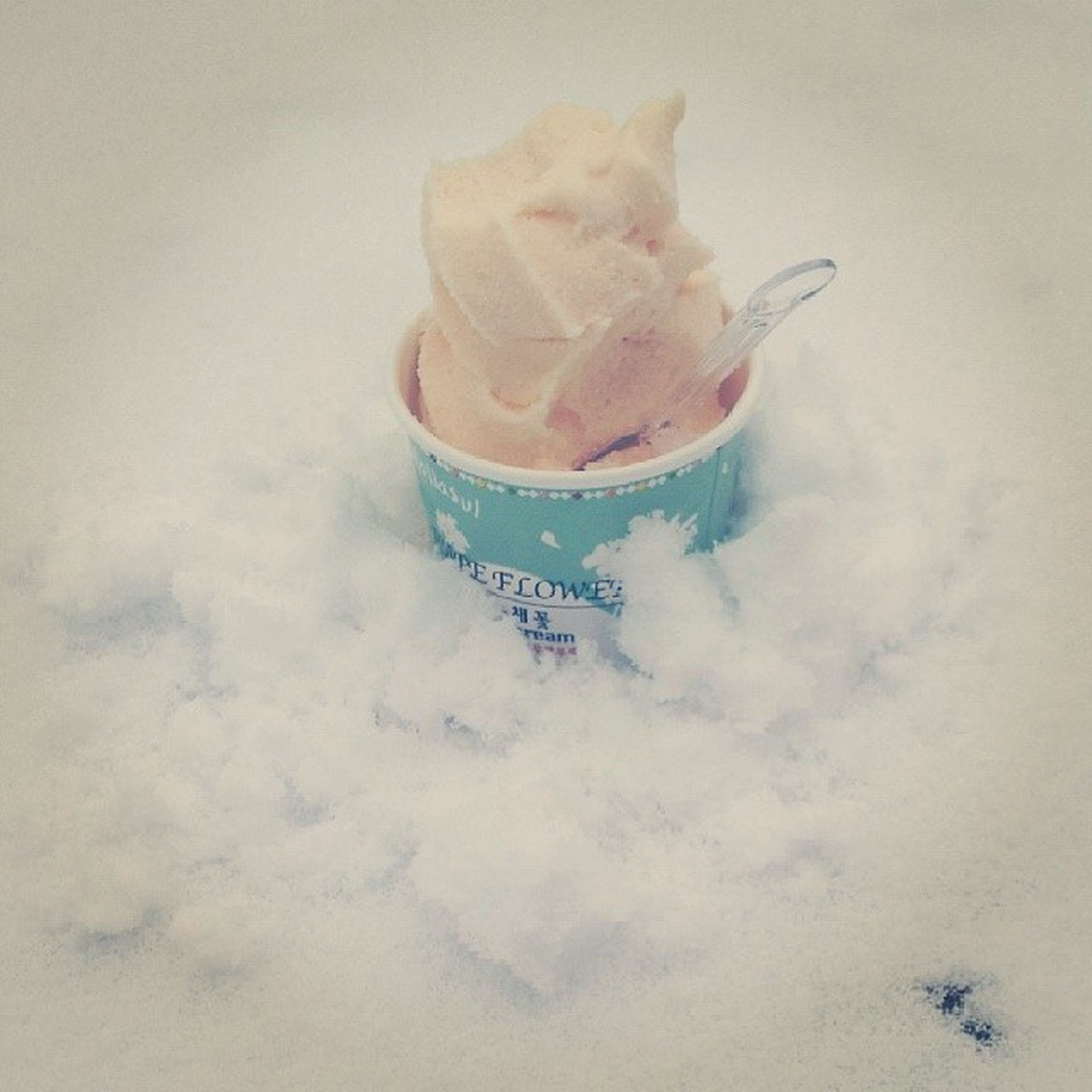 cold temperature, food and drink, food, snow, sweet food, winter, freshness, sky, no people, weather, white color, frozen, close-up, indulgence, unhealthy eating, day, still life, season, nature, dessert