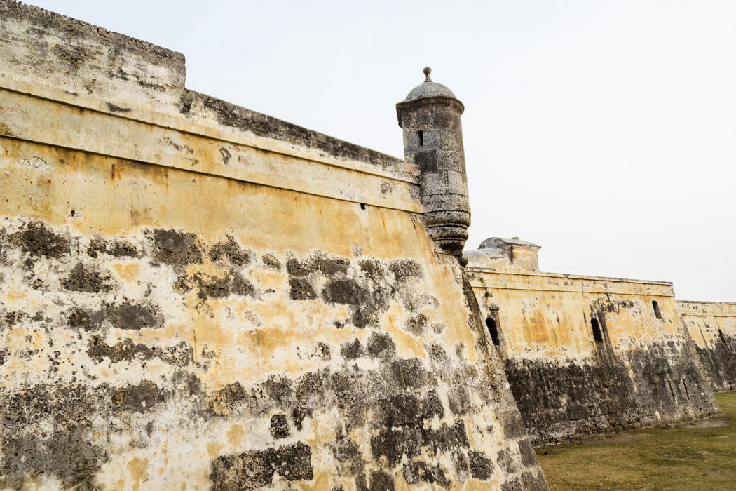 Detail of a segment of the fortified wall at Cartagena, Colombia. Building Exterior Caribbean Cartagena Castle Castle Walls Citadel Colombia Corralito De Piedra Defense Fort Fortified City Fortress Guard Heroic Invasion Landmark Man Built Pirates Post Southamerica Stone Structure Tourism Travel Wall