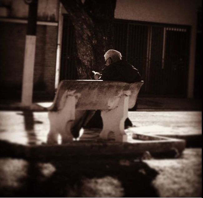 Sunday morning reading Brazil Elders Old Age Outdoors Peace People Reading Wisdom First Eyeem Photo