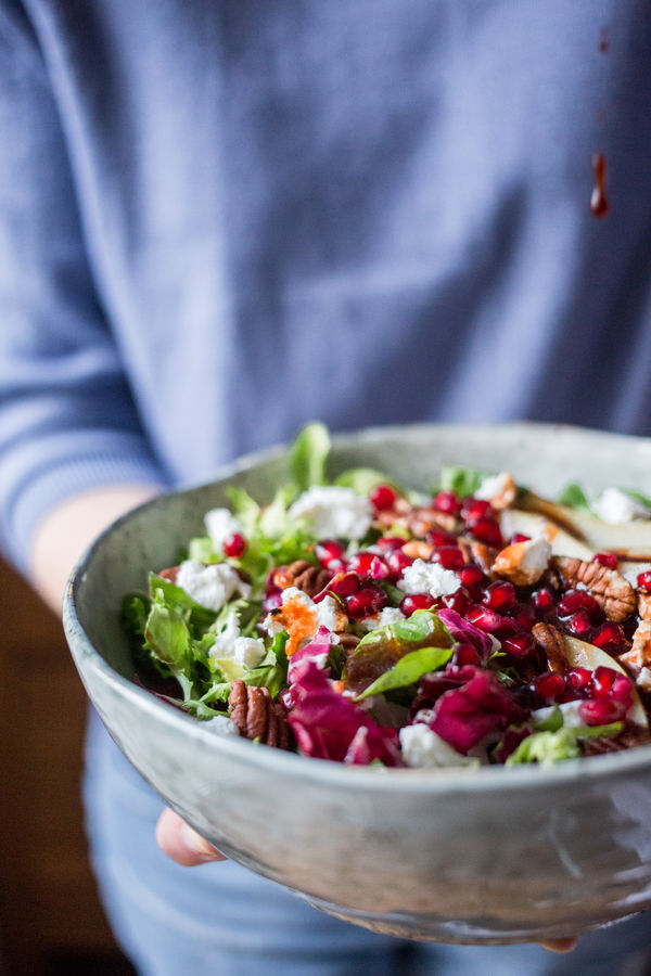 Adult Bowl Close-up Food Food And Drink Food And Drink Fresh Freshness Garden Green Color Healthy Eating Homemade Homemadefood Human Body Part Leaf Vegetable One Person People Ready-to-eat Red Salad Salad Bowl Side Dish Vegetable Vegetarian Food