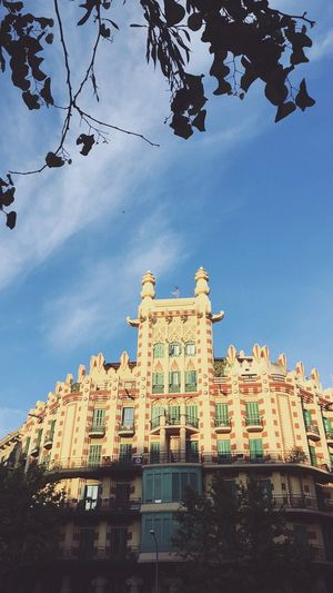 Architecture Building Exterior Built Structure Low Angle View History Sky Window Day No People Barcelona Outdoors Travel Destinations Tree City