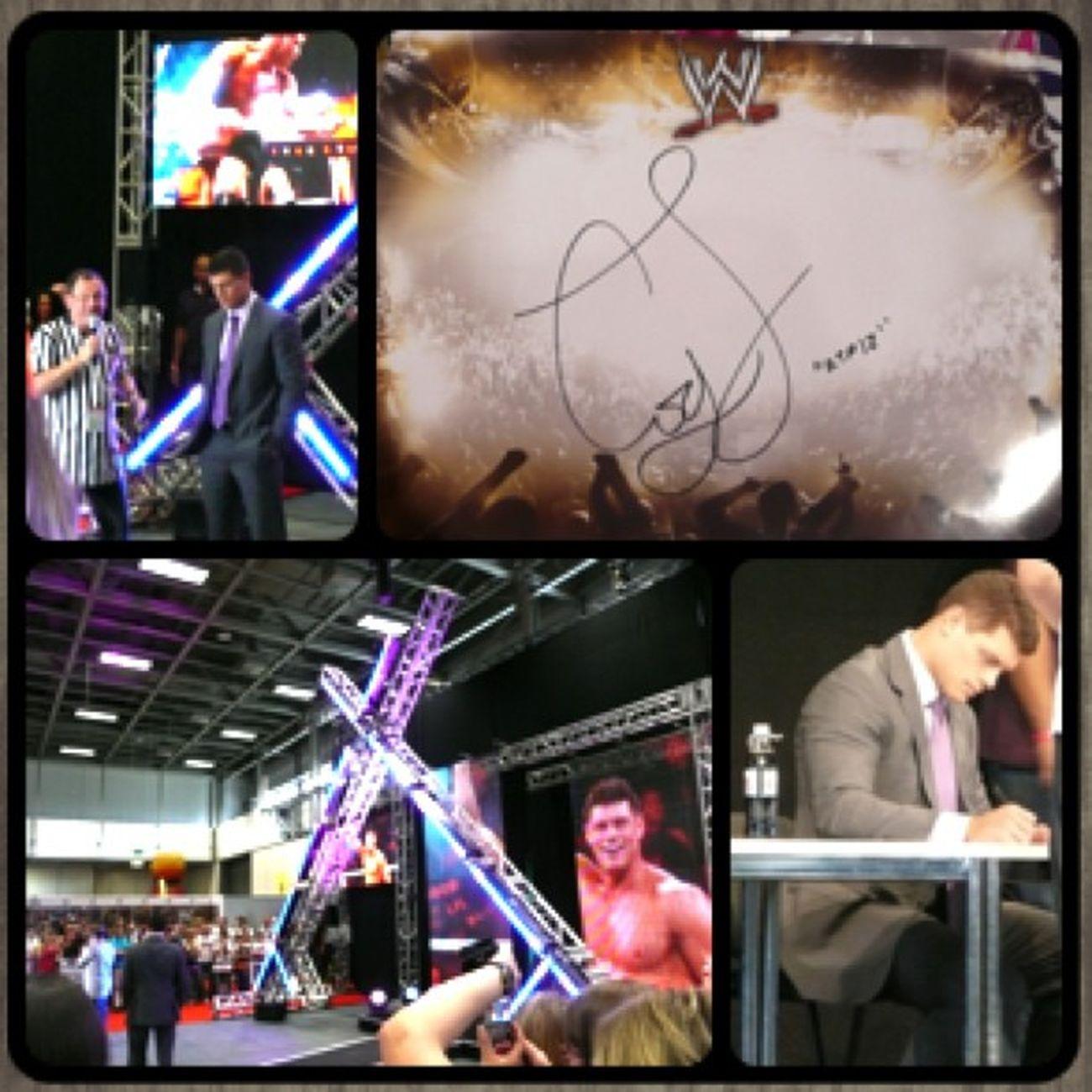Cody Rhodes in Berlin Berlin Wwe Autograph Wweuniverse Dashing Smackdown Codyrhodes Youmesse