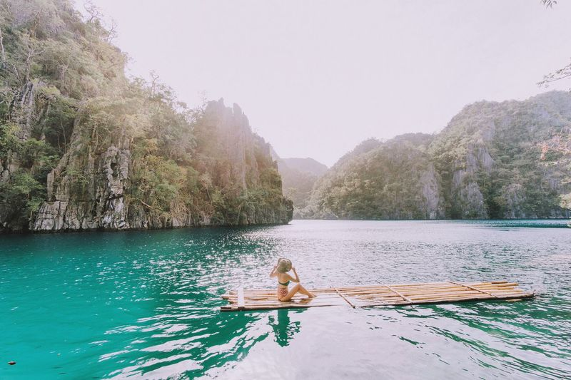 Miles Away Travel Photography Palawan Explorer Mermaid Seascape Coron, Palawan Leisure Activity Dream Inspired Philippines The Philippines Kayangan Lake Kayangan Lake, Palawan, Philippines Hike Swim Bamboo Beauty In Nature Relaxing Travel Destinations Island Hopping Tourist Landscape Breathing Space Lost In The Landscape