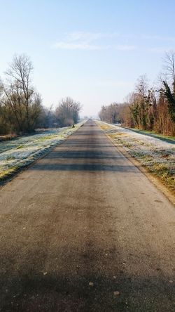 Road Nature Naturelovers On The Road Again Sun Cold Days France Work