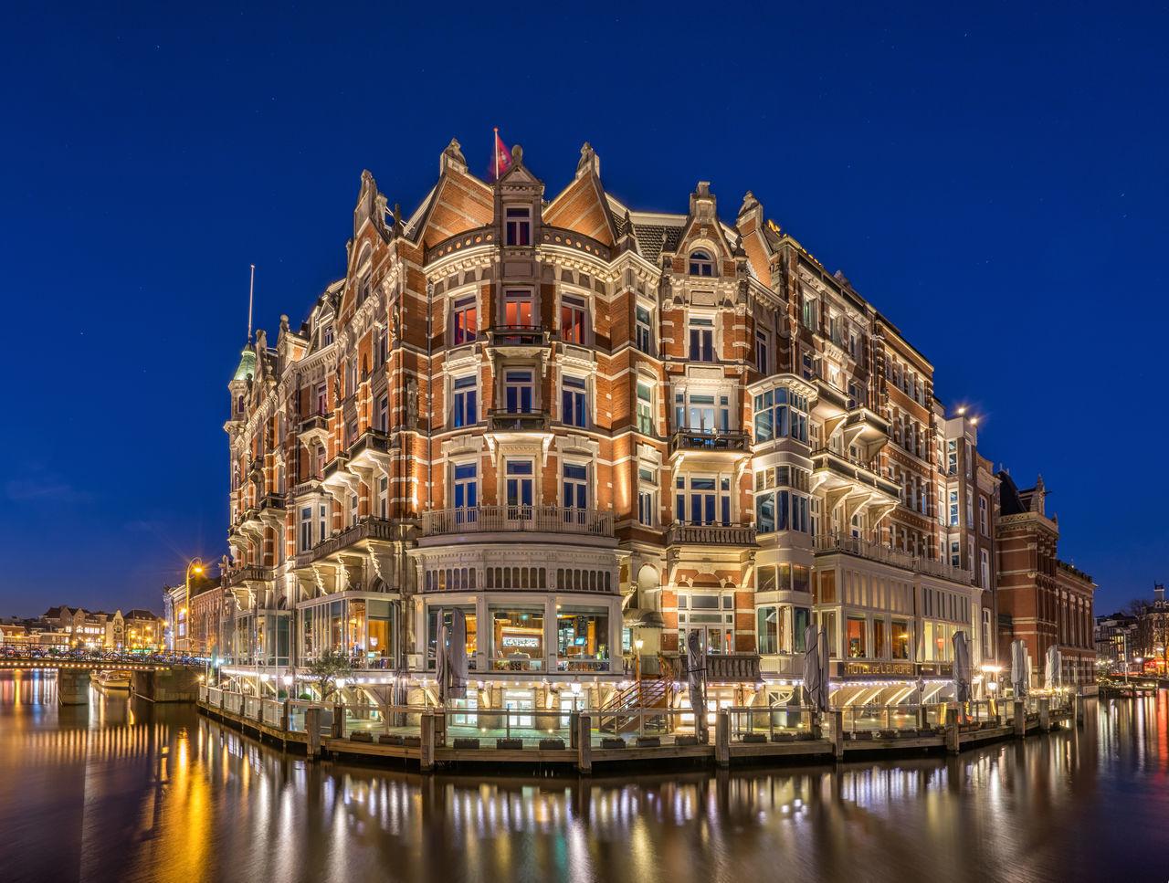Beautiful stock photos of amsterdam, illuminated, night, architecture, travel destinations