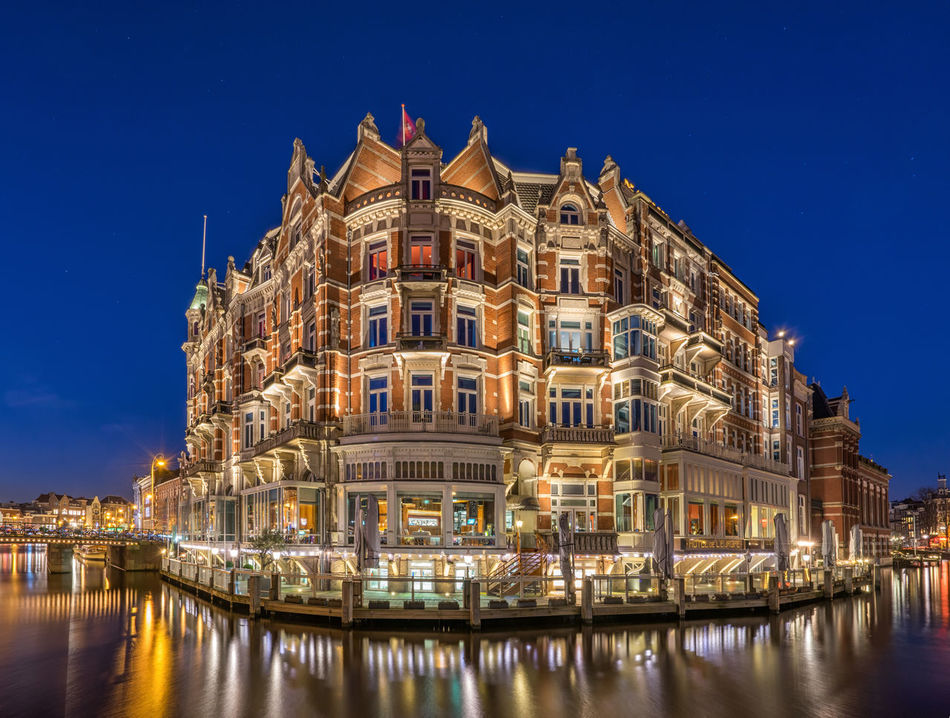 Beautiful stock photos of amsterdam, illuminated, night, architecture, travel destinations