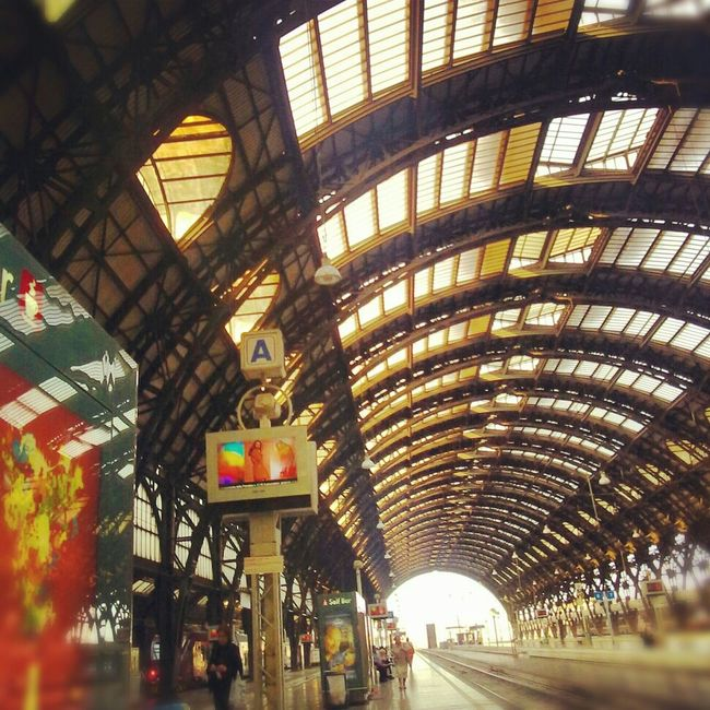 Architecture Train Train Station Italy Taking Photos Colors Milano Photo Enjoying Life Urban Nature Urban Landscape