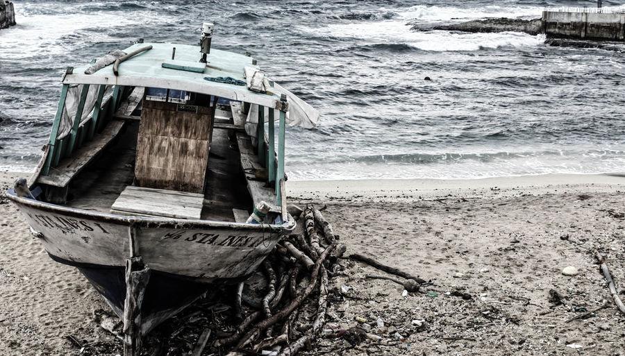 W R E C K E D Landscape_photography Travel Photography Wheninbatanes Itsmorefuninthephilippines Pinasmuna Dreamcometrue CanonT5 Lakwatsera Wowphilippines Nautical Vessel Beach Water Day Outdoors Sand No People