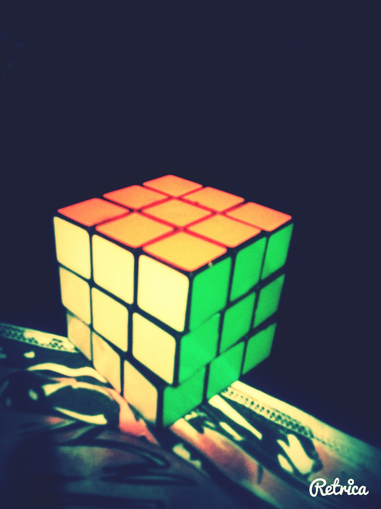 Playing Rubix Cube Enjoying Life Being Entertained