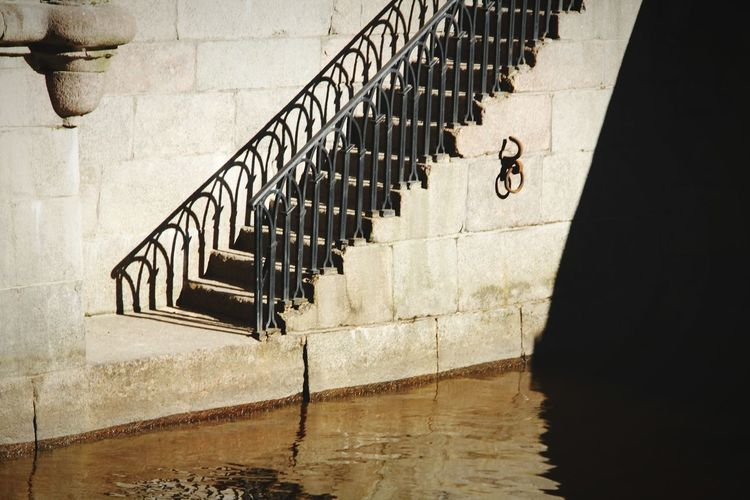 Steps And Staircases Railing Staircase Built Structure Steps No People Shadow Stairs Day River Channel Channel Russia St. Petersburg, Russia Travel Destinations St. Petersburg St.petersburg Water Outdoors