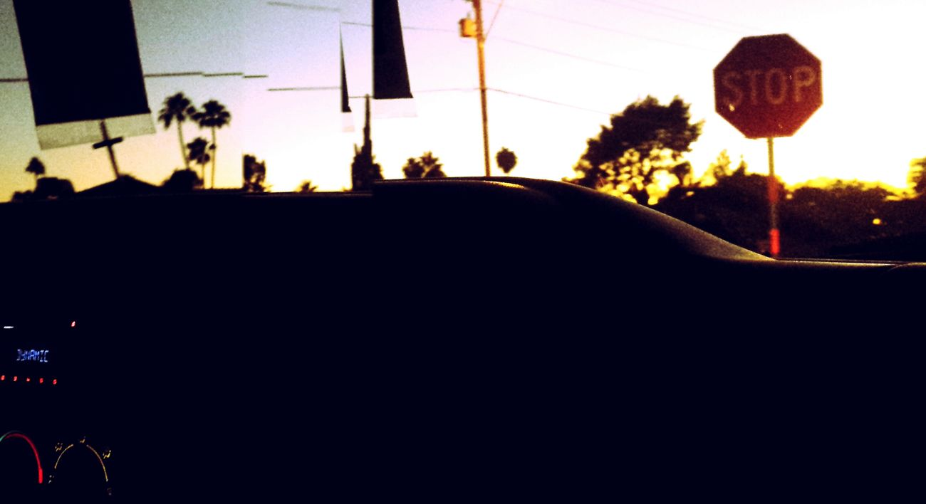 Taking Photos Drive By Shooting Stop Sign Darkening Last Goodbye Last Glimpse Car Driving Passenger