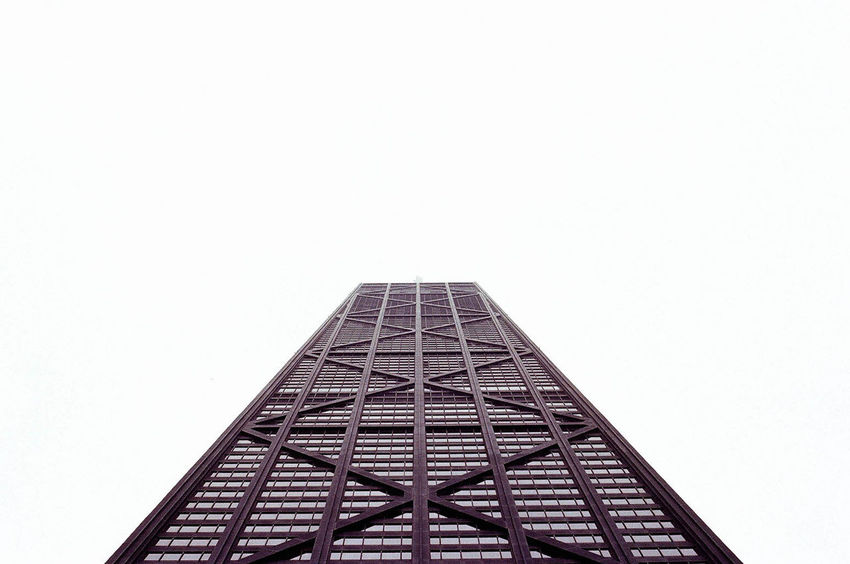 A Runway for the Eyes Architecture Architecture Break The Mold Building Building Exterior Buildings & Sky Built Structure Chicago Chicago Architecture Chicago Skyline Clear Sky Illinois Low Angle View No People Urban Urban Geometry White Background The Architect - 2017 EyeEm Awards EyeEmNewHere