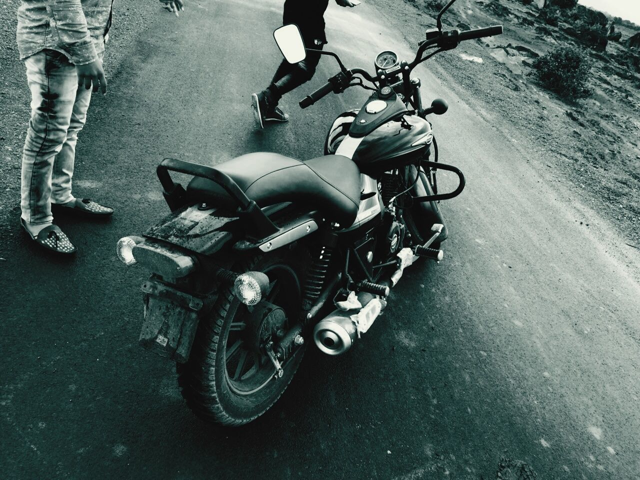 transportation, motorcycle, land vehicle, high angle view, street, mode of transport, outdoors, day, no people, scooter