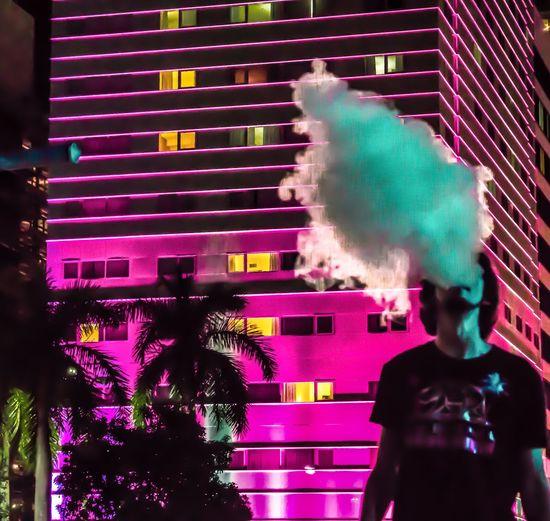Neon Vapes Long Exposure Photography Miami Vape Showcase March