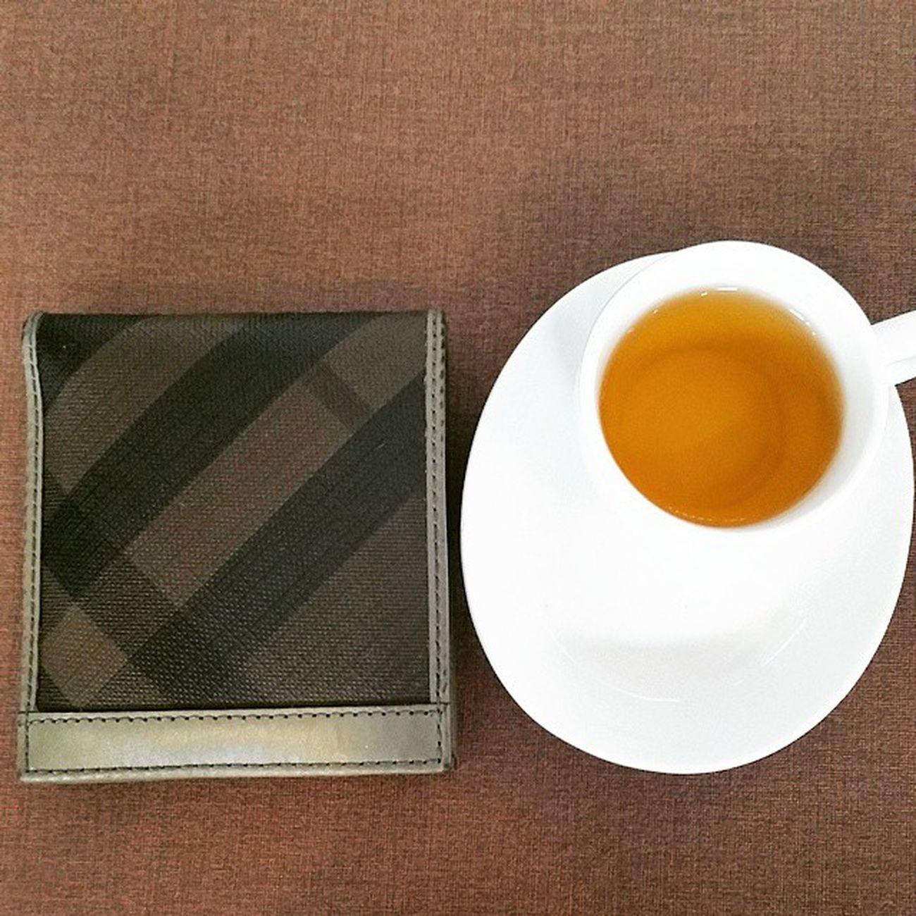 Another cup of tea after facial!! Tea Smallcup Burberry Facial after wallet