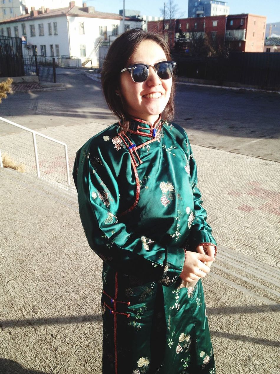 Nogoon torgon Deel Happy Lunar New Year Mongolia National Costume