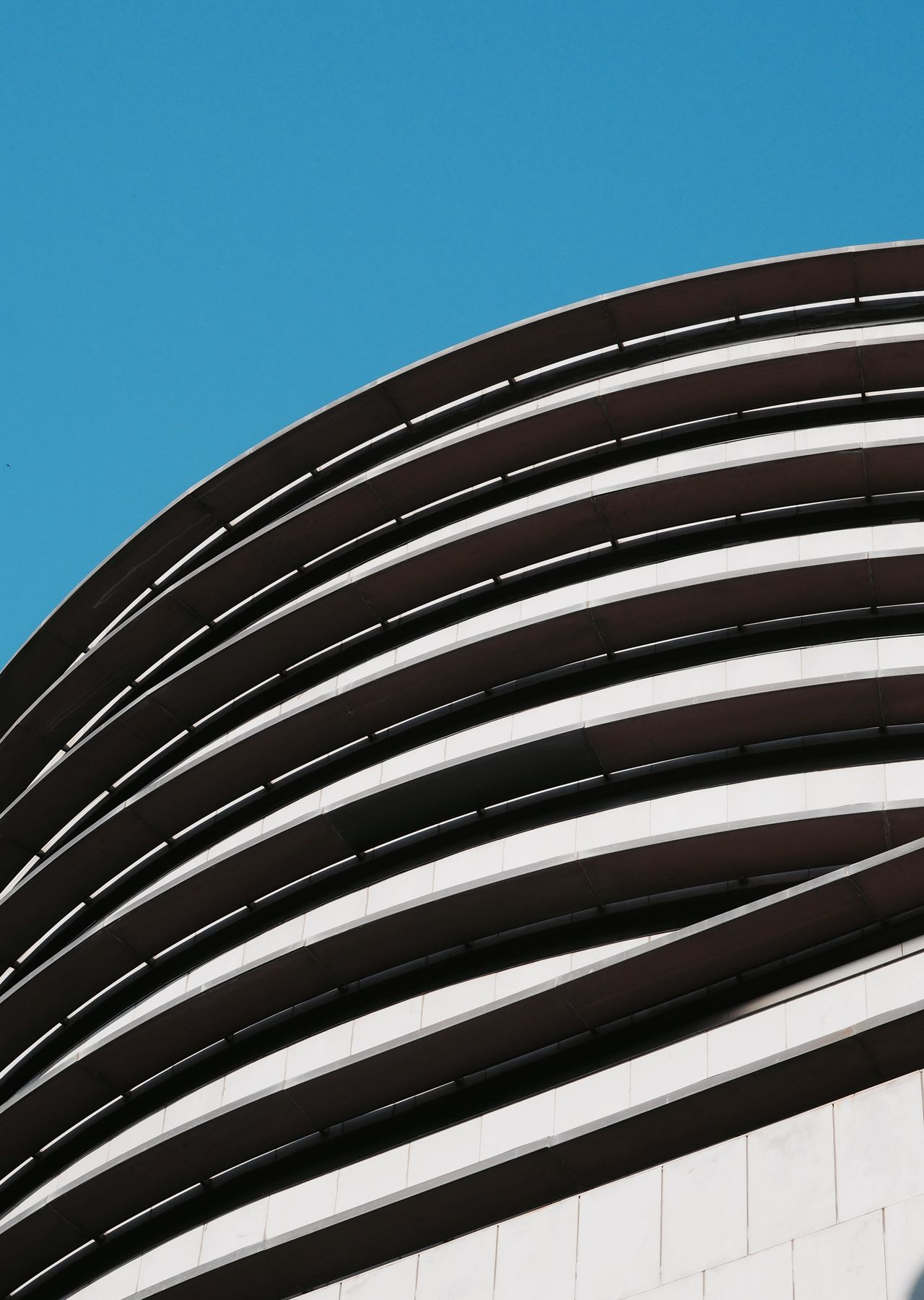 Architecture Blue Building Exterior Built Structure Clear Sky Close-up Day Low Angle View Modern No People Outdoors Sky