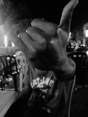 Shaka Brah! Night One Person People One Man Only Competition Black & White Black And White Photography Close-up No Logos No Logo Focused Photo Outdoors Outdoor Art Outdoor Photography Hookah Hookahgram