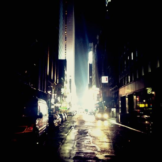 By night..