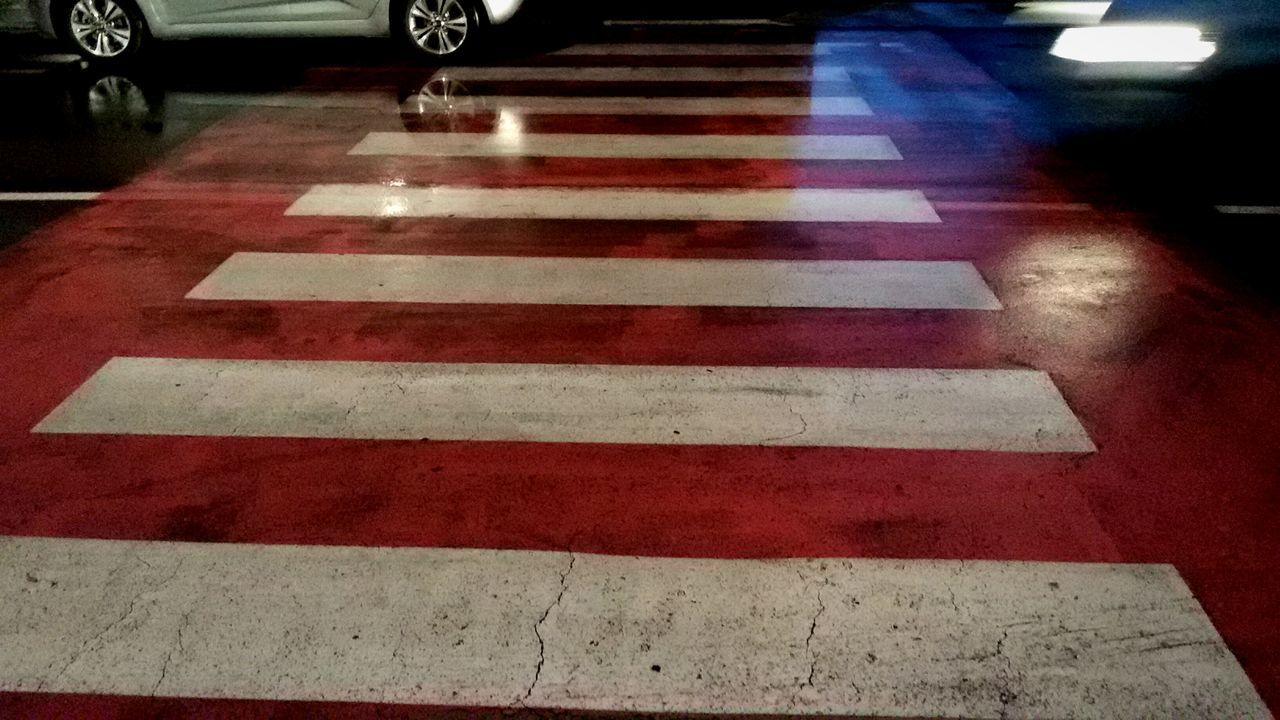 striped, transportation, no people, night, outdoors, close-up